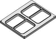 Werkzeug 227x178 2 Fach 2-geteilt CPET/BIO für F-S-300